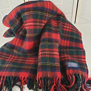 Vintage Pendleton 100% Wool Throw Blanket